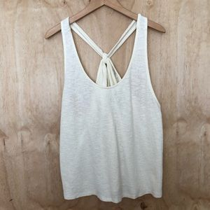 Madewell | racer back knotted tank top